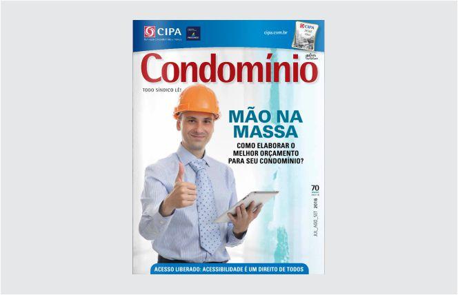 Capa Revista Condomínio. Edição 70