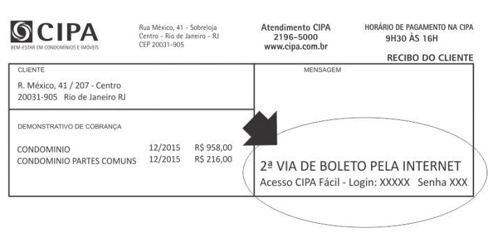 Boleto CIPA - Login para Acesso ao CIPA Fácil