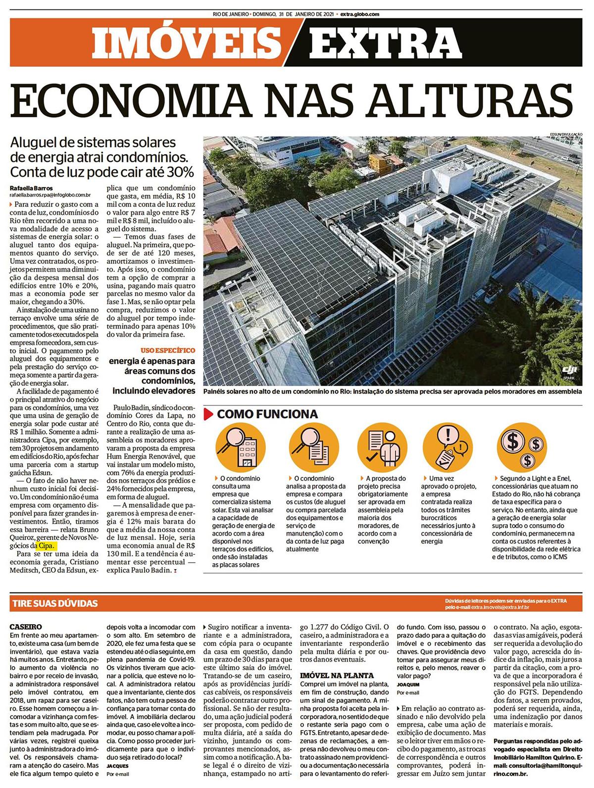 Extra: Economia nas alturas