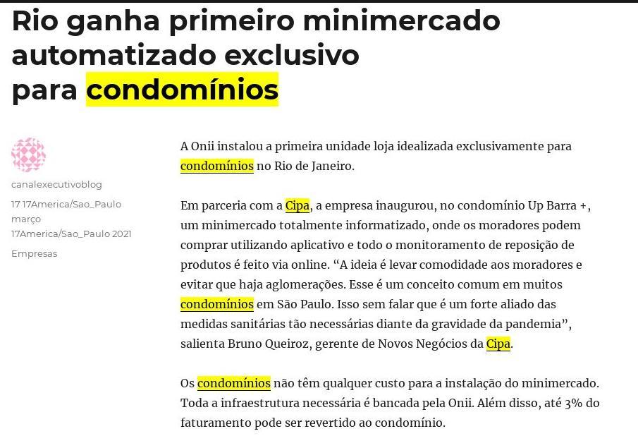 Canal Executivo: Rio ganha primeiro minimercado automatizado exclusivo para condomínios
