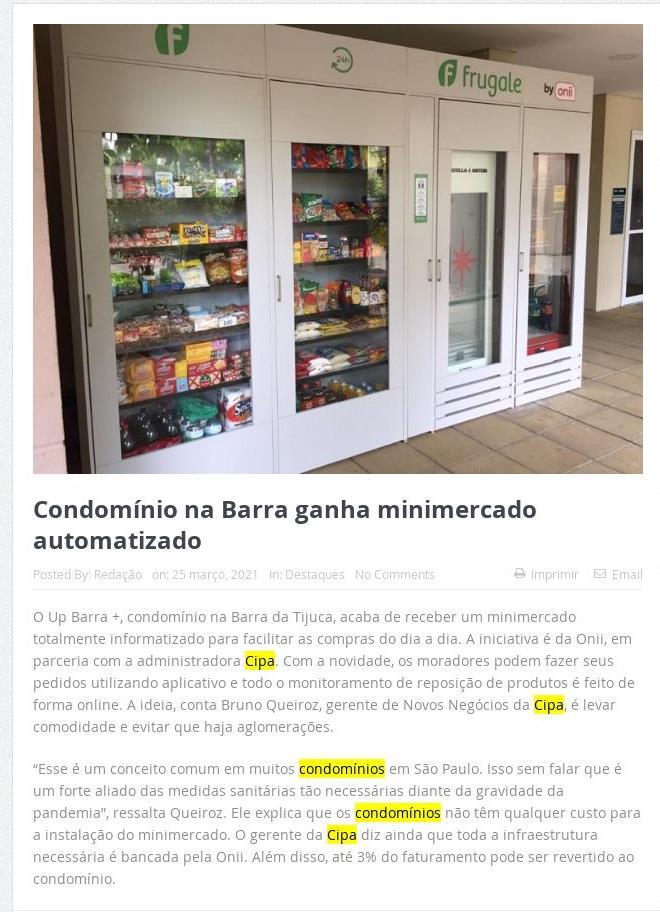 Mercado Imobiliário: Condomínio na Barra ganha minimercado automatizado